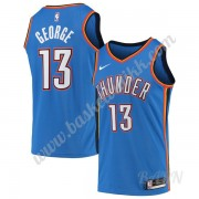 Barn Basketball Drakter Oklahoma City Thunder 2019-20 Paul George 13# Blå Icon Edition Swingman Drak..