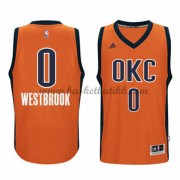 Oklahoma City Thunder NBA Basketball Drakter 2015-16 Russell Westbrook 0# Orange Alternate Drakt..