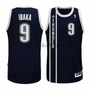 Oklahoma City Thunder NBA Basketball Drakter 2015-16 Serge Ibaka 9# Blue Alternate Drakt..