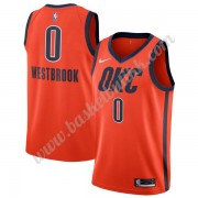 Oklahoma City Thunder NBA Basketball Drakter 2019-20 Russell Westbrook 0# Oransje Earned Edition Swi..