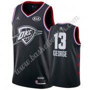 Oklahoma City Thunder 2019 Paul George 13# Svart All Star Game NBA Basketball Drakter Swingman..