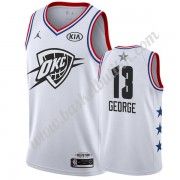 Oklahoma City Thunder 2019 Paul George 13# Hvit All Star Game NBA Basketball Drakter Swingman..
