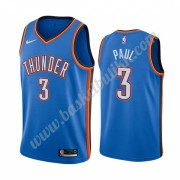 Oklahoma City Thunder NBA Basketball Drakter 2019-20 Chris Paul 3# Blå Icon City Edition Swingman Dr..