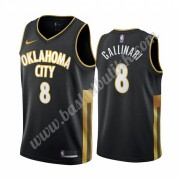 Oklahoma City Thunder NBA Basketball Drakter 2019-20 Danilo Gallinari 8# Svart City Edition Swingman..