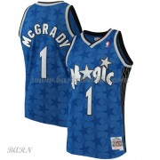 Barn Basketball Drakter Orlando Magic Kids 2001-02 Tracy McGrady 1# Blue Hardwood Classics Swingman..