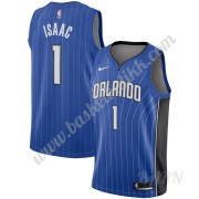 Barn Basketball Drakter Orlando Magic 2019-20 Jonathan Isaac 1# Blå Icon Edition Swingman Drakt..