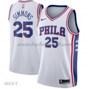 Barn Basketball Drakter Philadelphia 76ers 2018 Ben Simmons 25# Association Edition Swingman..