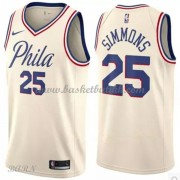 Barn Basketball Drakter Philadelphia 76ers 2018 Ben Simmons 25# City Edition Swingman..