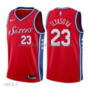 Barn Basketball Drakter Philadelphia 76ers 2018 Ersan Ilyasova 23# Statement Edition Swingman..