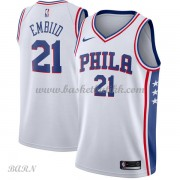 Barn Basketball Drakter Philadelphia 76ers 2018 Joel Embiid 21# Association Edition Swingman..