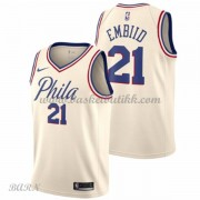 Barn Basketball Drakter Philadelphia 76ers 2018 Joel Embiid 21# City Edition Swingman..