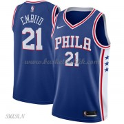 Barn Basketball Drakter Philadelphia 76ers 2018 Joel Embiid 21# Icon Edition Swingman..