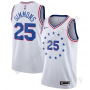 Barn Basketball Drakter Philadelphia 76ers 2019-20 Ben Simmons 25# Hvit Earned Edition Swingman Drak..