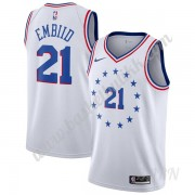 Barn Basketball Drakter Philadelphia 76ers 2019-20 Joel Embiid 21# Earned Edition Swingman Drakt..