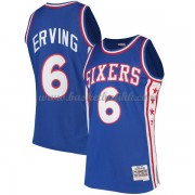 Philadelphia 76ers Mens 1982-83 Julius Erving 6# Blue Hardwood Classics..