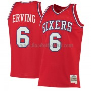 Philadelphia 76ers Mens 1982-83 Julius Erving 6# Red Hardwood Classics..