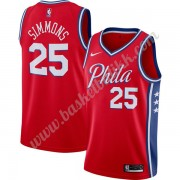 Philadelphia 76ers NBA Basketball Drakter 2019-20 Ben Simmons 25# Rød Finished Statement Edition Swi..