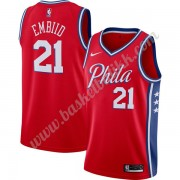 Philadelphia 76ers NBA Basketball Drakter 2019-20 Joel Embiid 21# Rød Finished Statement Edition Swi..