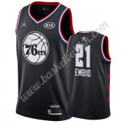 Philadelphia 76ers 2019 Joel Embiid 21# Svart All Star Game NBA Basketball Drakter Swingman..