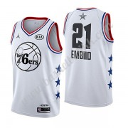 Philadelphia 76ers 2019 Joel Embiid 21# Hvit All Star Game NBA Basketball Drakter Swingman..