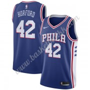 Philadelphia 76ers NBA Basketball Drakter 2019-20 Al Horford 42# Blå Icon Edition Swingman Drakt..