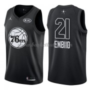 Philadelphia 76ers Joel Embiid 21# Black 2018 All Star Game NBA Basketball Drakter..