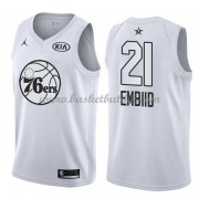 Philadelphia 76ers Joel Embiid 21# Hvit 2018 All Star Game NBA Basketball Drakter..