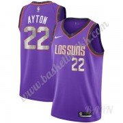 Barn Basketball Drakter Phoenix Suns 2019-20 DeAndre Ayton 22# Purple City Edition Swingman Drakt..
