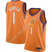 Barn Basketball Drakter Phoenix Suns 2019-20 Devin Booker 1# Oransje Finished Statement Edition Swin..