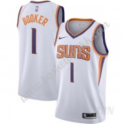 Barn Basketball Drakter Phoenix Suns 2019-20 Devin Booker 1# Hvit Association Edition Swingman Drakt..