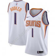 Phoenix Suns NBA Basketball Drakter 2019-20 Devin Booker 1# Hvit Association Edition Swingman Drakt..