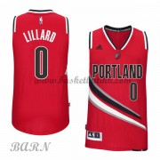 Barn Basketball Drakter Portland Trail Blazers 2015-16 Damian Lillard 0# Alternate..