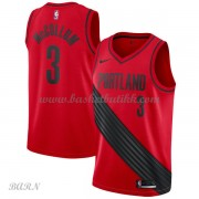 Barn Basketball Drakter Portland Trail Blazers 2018 C.J. McCollum 3# Statement Edition Swingman..