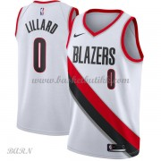 Barn Basketball Drakter Portland Trail Blazers 2018 Damian Lillard 0# Association Edition Swingman..
