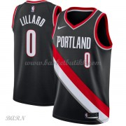 Barn Basketball Drakter Portland Trail Blazers 2018 Damian Lillard 0# Icon Edition Swingman..