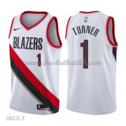 Barn Basketball Drakter Portland Trail Blazers 2018 Evan Turner 1# Association Edition Swingman..