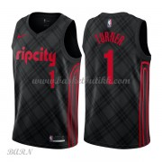 Barn Basketball Drakter Portland Trail Blazers 2018 Evan Turner 1# City Edition Swingman..