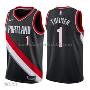 Barn Basketball Drakter Portland Trail Blazers 2018 Evan Turner 1# Icon Edition Swingman..