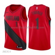 Barn Basketball Drakter Portland Trail Blazers 2018 Evan Turner 1# Statement Edition Swingman..