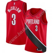 Portland Trail Blazers NBA Basketball Drakter 2019-20 C.J. McCollum 3# Rød Finished Statement Editio..