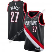 Portland Trail Blazers NBA Basketball Drakter 2019-20 Jusuf Nurkic 27# Svart Icon Edition Swingman D..