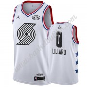 Portland Trail Blazers 2019 Damian Lillard 0# Hvit All Star Game NBA Basketball Drakter Swingman..