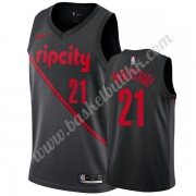 Portland Trail Blazers NBA Basketball Drakter 2019-20 Hassan Whiteside 21# Svart City Edition Swingm..