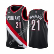 Portland Trail Blazers NBA Basketball Drakter 2019-20 Hassan Whiteside 21# Svart Icon Edition Swingm..