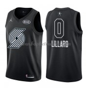 Portland Trail Blazers Damian Lillard 0# Black 2018 All Star Game NBA Basketball Drakter..