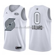 Portland Trail Blazers Damian Lillard 0# Hvit 2018 All Star Game NBA Basketball Drakter..