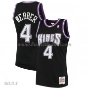 Barn Basketball Drakter Sacramento Kings Kids 2000-01 Chris Webber 4# Black Hardwood Classics Swingm..