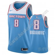 Barn Basketball Drakter Sacramento Kings 2019-20 Bogdan Bogdanovic 8# Blå City Edition Swingman Drak..