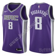 Barn Basketball Drakter Sacramento Kings 2019-20 Bogdan Bogdanovic 8# Purple Icon Edition Swingman D..
