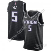 Barn Basketball Drakter Sacramento Kings 2019-20 De'Aaron Fox 5# Svart Statement Edition Swingman Dr..